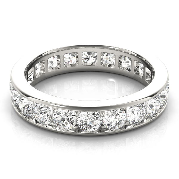Channel Diamond Eternity Band 5.6 Ct Platinum