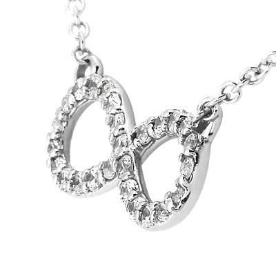 Infinity Pendant With Diamond Accents