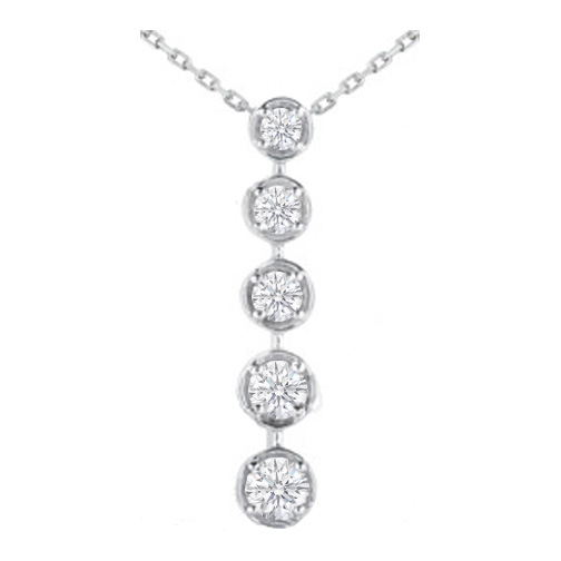 Journey necklaces and pendants from mdc diamonds nyc journey 5 diamond drop pendant in 14 karat white gold 150 tcw mozeypictures Gallery