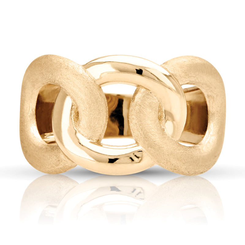 Open Link Wide Band in Yellow Gold