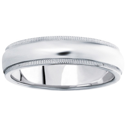 Comfort-Fit Wedding Ring in 14K White Gold (6 mm)