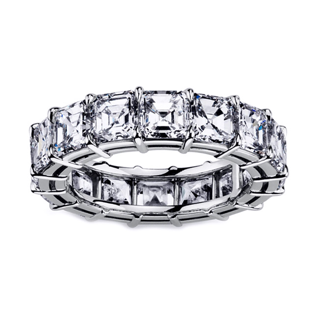 Asscher Eternity Diamond Ring (7.96 ct. tw.) in Platinum