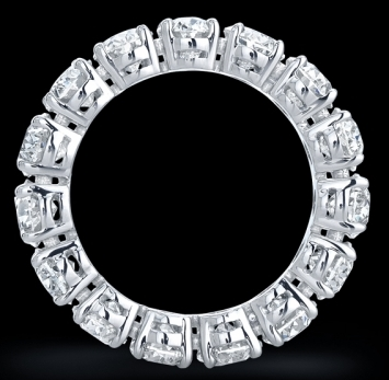 Asscher Eternity Diamond Ring (9.8 ct. tw.) in Platinum