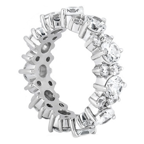 Garland Diamond Eternity Wedding Ring 4.40 Carat