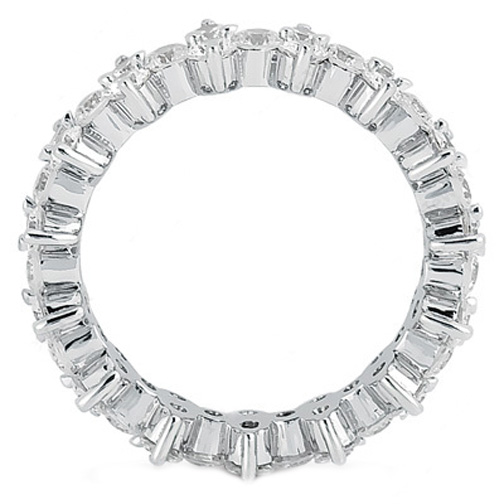 Garland Diamond Eternity Wedding Band in Platinum 2.25 Carat Total Weight