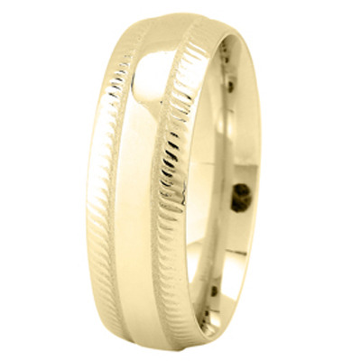 Yellow Gold Milligrain Wedding Ring