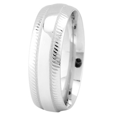 White Gold Milligrain Wedding Ring