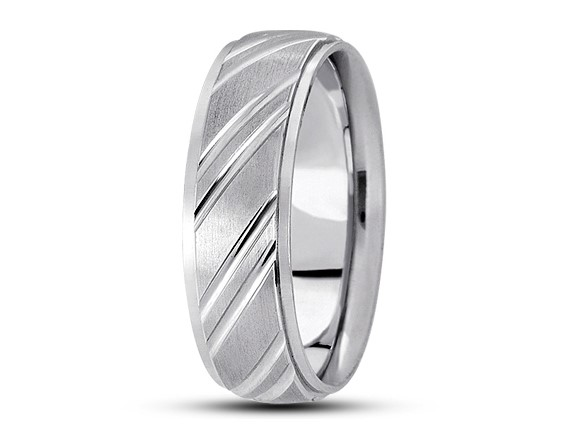 Platinum Wedding Band with a Satin Finish 7mm