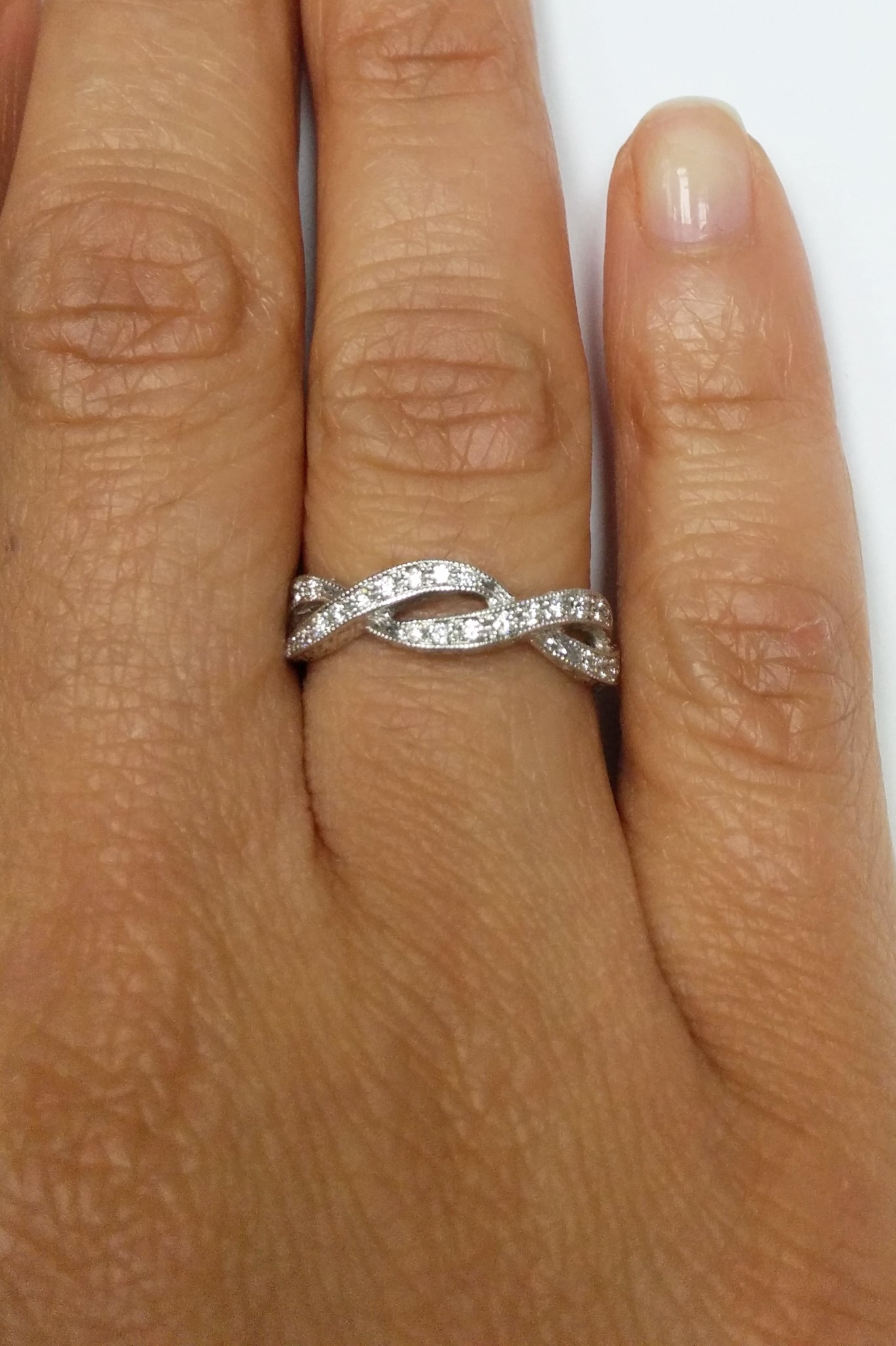 ring b twist collections dpt the band wedding jewelry infinity michael