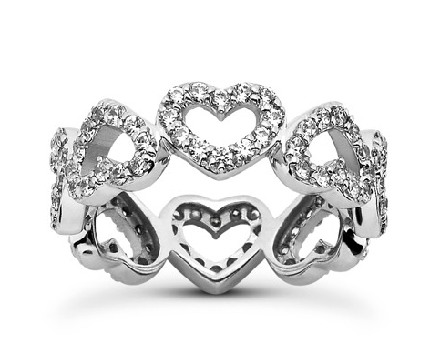 Heart Shaped Diamond Eternity Ring