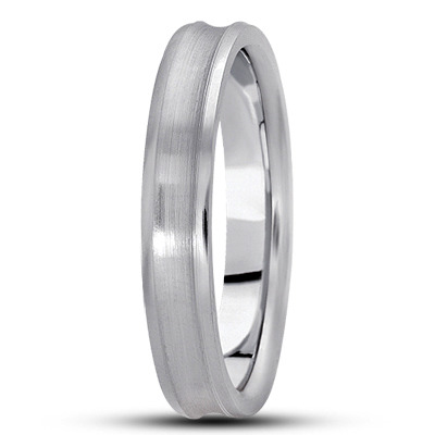 Satin Concave Unisex Wedding Band