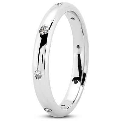 Round Diamond Stackable Band