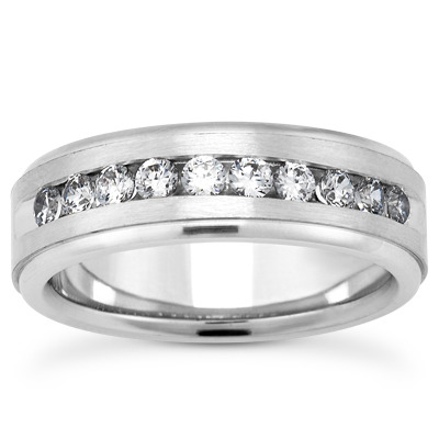 Round Diamond Brushed Channel Band