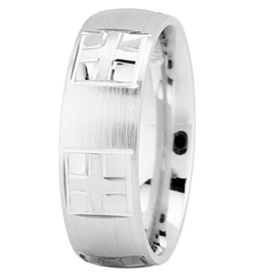 Engraved Religious Men Wedding Band