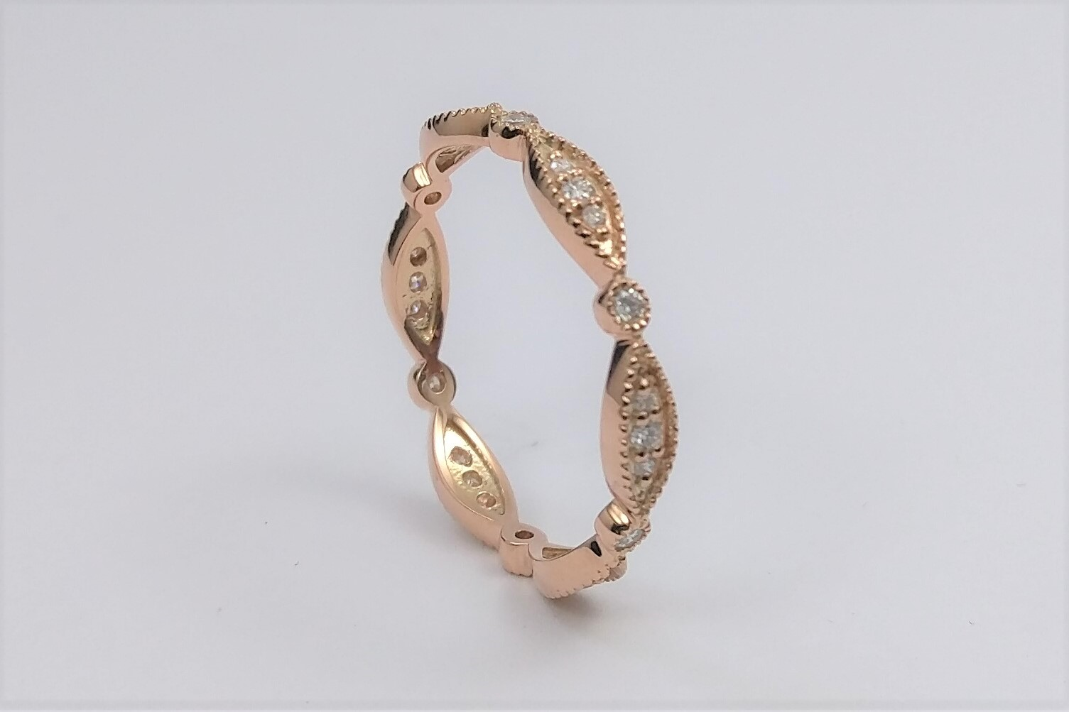 Eternity Petite Swing Diamond Band in Rose Gold