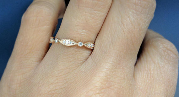 Eternity Petite Swing Diamond Band  in Yellow Gold