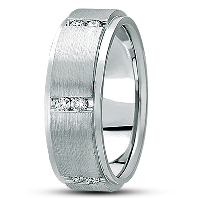Duo Diamond Channel Brushed Eternity Band